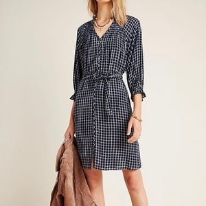 Anthro Maeve Sara Smocked Shirtdress  NWT Size S